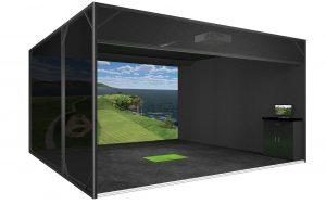 Enclosed Wide Screen Simulator